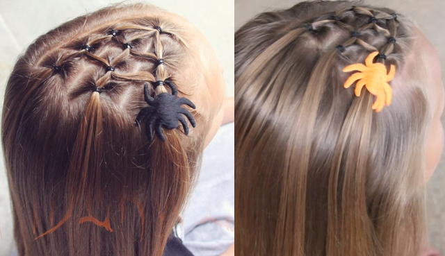 Halloween Hair | Spiderweb Braid