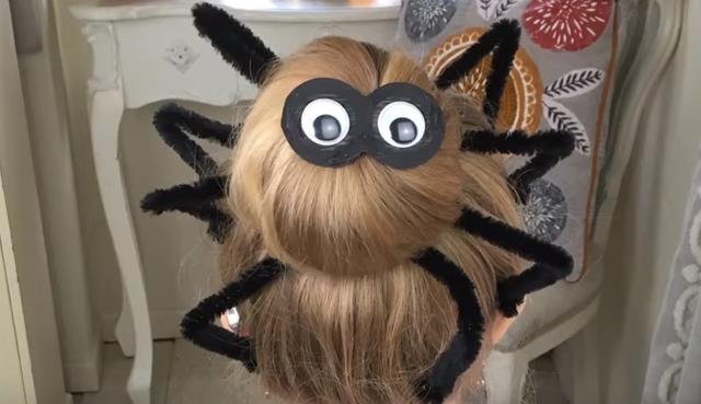 Halloween Hair | Spider Bun